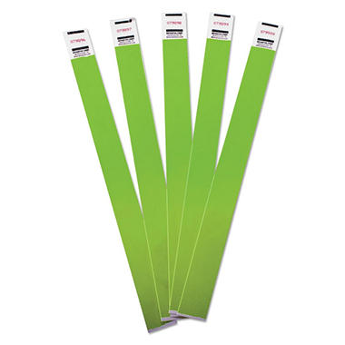 Advantus - Crowd Management Wristbands, Sequentially Numbered, Green -  500/Pack
