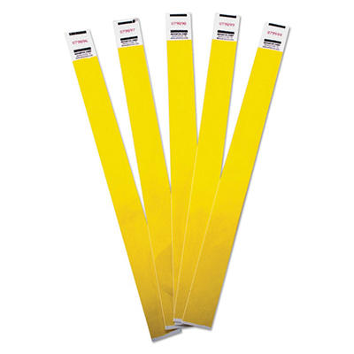 Advantus - Crowd Management Wristbands, Sequentially Numbered, Yellow -  500/Pack
