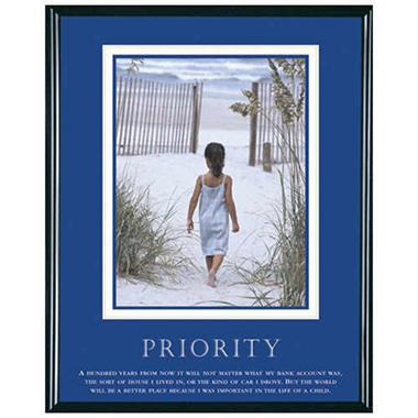 Priority, Girl - Framed - 24