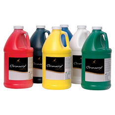 Chroma Chromacryl Premium Acrylic Paint, 1/2 Gallon, Assorted Colors, Set of 6