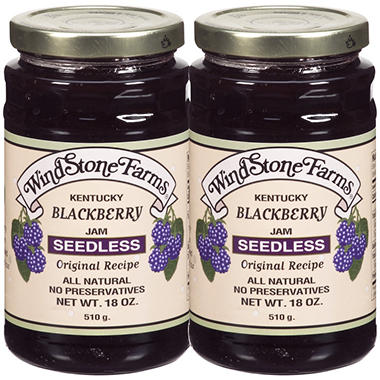 WindStone Farms® Seedless Blackberry Jam - 2/18 oz.