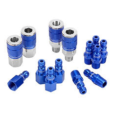 "ColorConnex 14 Piece Coupler & Plug Kit - Type C (1/4"" NPT, 1/4"" Body)"