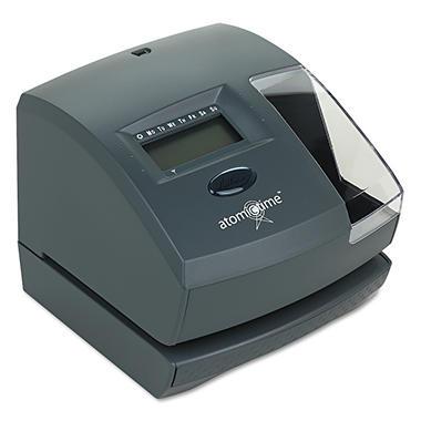 Lathem 1500E Atomic Time Recorder, Charcoal