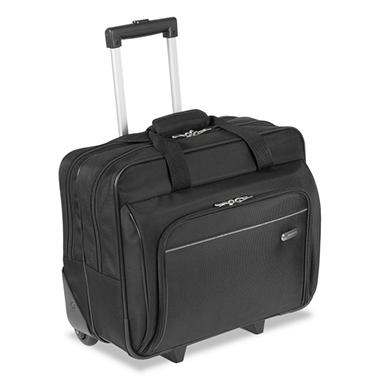 Targus Rolling Laptop Case, 1200D Polyester, 16 1/2