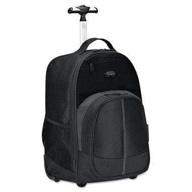 Targus Compact Rolling Backpack, 19 1/3  TRGTSB750US