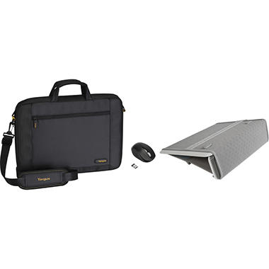 "Targus 16"" CityGear™ Slipcase with Slim LapDesk™ & Wireless Optical Mouse"