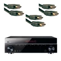 Sherwood SHDR807 7.1 Channel A/V Home Theater Receiver + 3 HDMI Cables