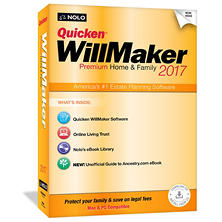 Quicken WillMaker Premium Home and Family 2017