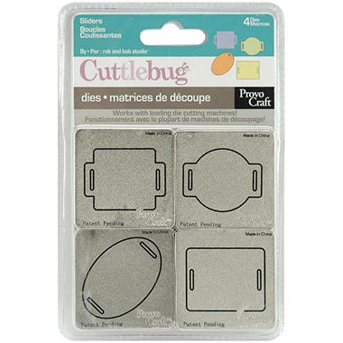 "Cuttlebug 2""X2"" Die Set - Sliders"