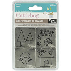 "Cuttlebug 2""X2"" Die Set - Winter"