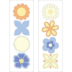 "Cuttlebug 2""X6"" Bundle Dies 2/Pkg - Flowers"