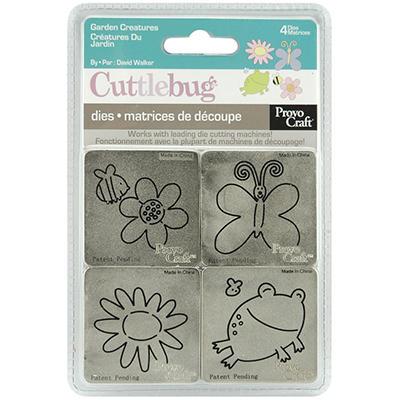 """Cuttlebug 2""""X2"""" Die Set - Garden Creatures"""