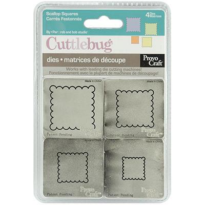 "Cuttlebug 2""X2"" Die Set - Scalloped Squares"
