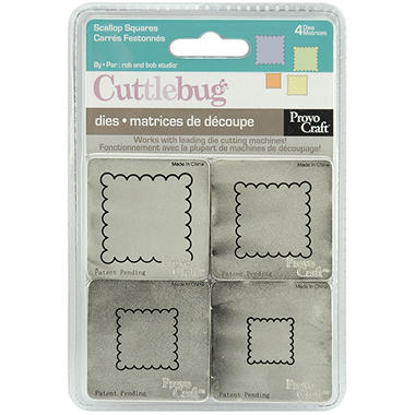 "Cuttlebug 2""X2"" Die Set - Scalloped Squares"