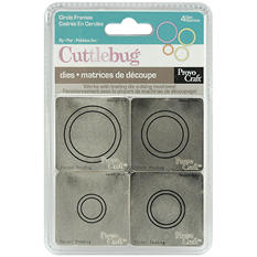 "Cuttlebug 2""X2"" Die Set - Circle Frames"