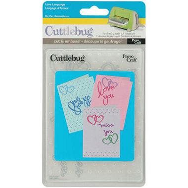 Cuttlebug Card Combo Dies - Love Language