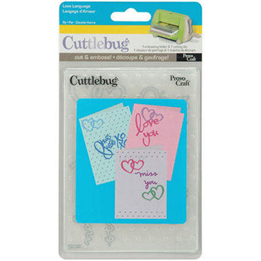 Cuttlebug Card Combo Dies - Love Language