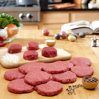 Organic Prairie Family Pack Steaks and Burgers