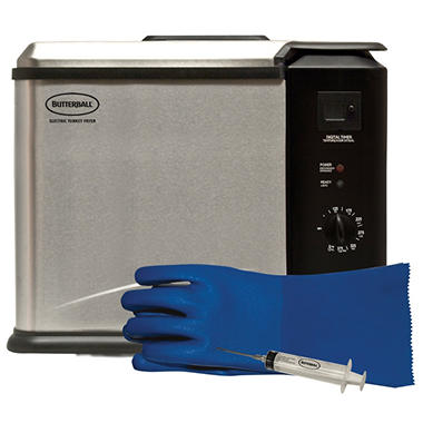 XL Butterball Turkey Fryer w/ Bonus Cooking Glove & Injector