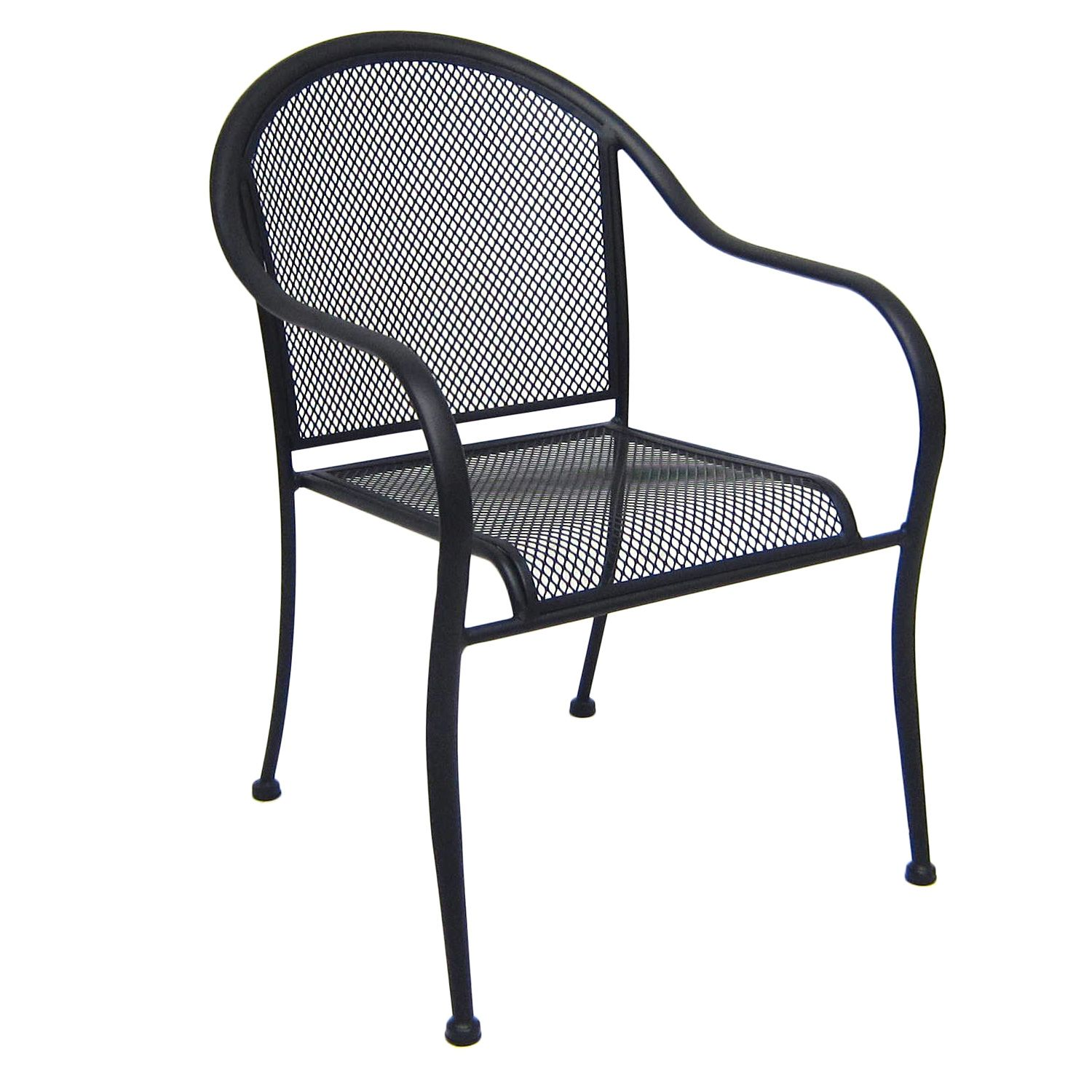 Wrought iron commercial bistro chair for Wrought iron cafe chairs