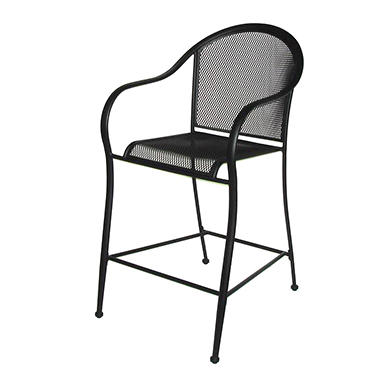 Commercial Wrought Iron Bar Chair - 2 pk.