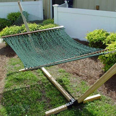 """Deluxe Green Polyester Rope Hammock - 60"""" x 80"""""""