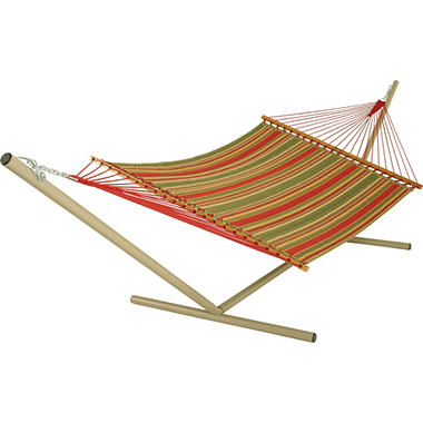 Trellis Garden Large Quilted Fabric Hammock