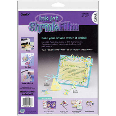 "8.5""X11"" Ink Jet Shrink Film - 6/Pkg"