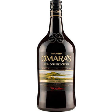 O'MARA'S IRISH CREAM 1.5L W/ 2 GLASSES
