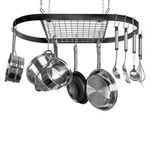 Kinetic Go Green Ceiling-Mounted Pot Rack, Oval