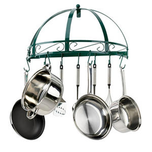 Kinetic Go Green Wall-Mounted Pot Rack, Semi-Circle
