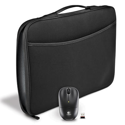 "Logitech 16"" Laptop Sleeve and Mouse Combo"