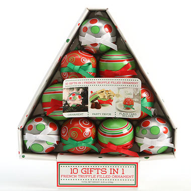 Holiday Truffles and Ornaments Gift Box