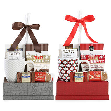Christmas Cheer Gift Basket - Gold