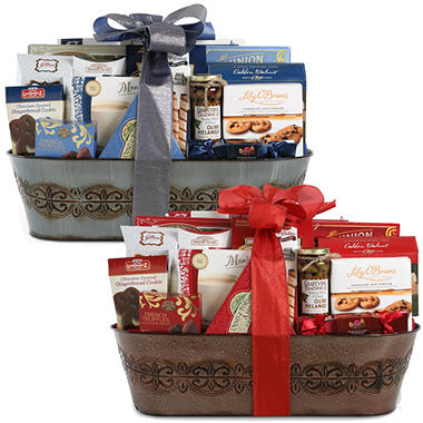 Traditional Luxury Gift Basket - Red or Blue