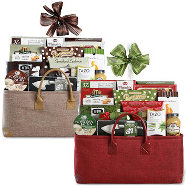 Enchanting Collection Gift Basket - Red or Tan