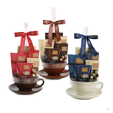 Godiva Chocolatier Mug Set - Brown, Dark Brown or White
