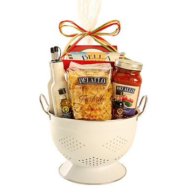 Italian Feast Gift Set with Colander - White