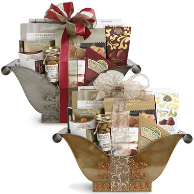 Classic Elegance gift basket - Gold or Pewter