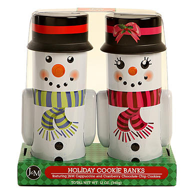 Holiday Cookie Bank Gift Set - Various Designs