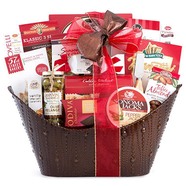Embossed Metal Gift Basket