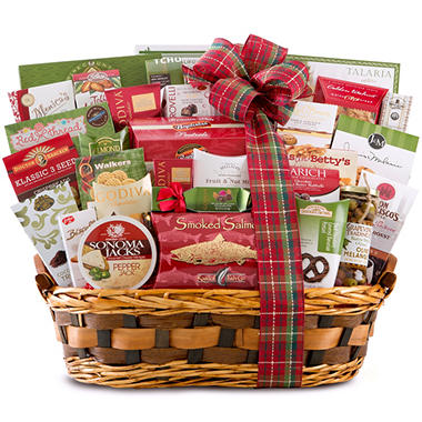 Deluxe Woven Holiday Gift Basket