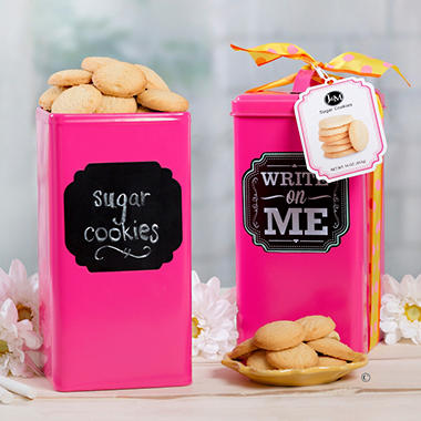J & M Spring Sugar Cookie Tin - Pink, Green, or Blue
