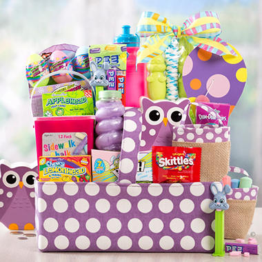 Purple Polka Dot Easter Basket
