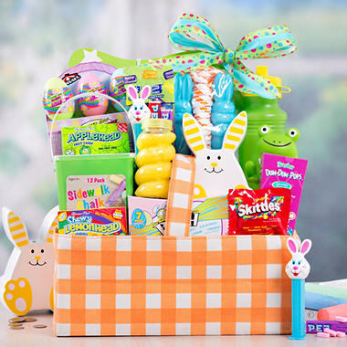 Orange Plaid Easter Basket