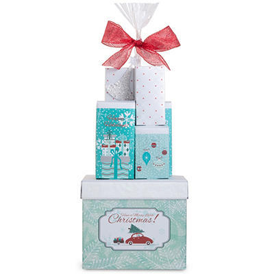 Holiday Sweets Cityscape Gift Tower