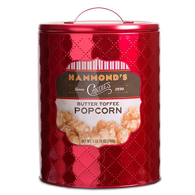 Hammond's Butter Toffee Popcorn in Red Holiday Tin (14 oz.)