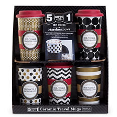 5 Gifts In 1 Ceramic Travel Mug Set
