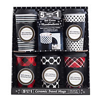 Travel Mug Gift Set, Black