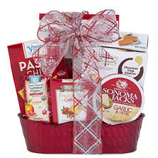 Embossed Metal Goodies Gift Basket